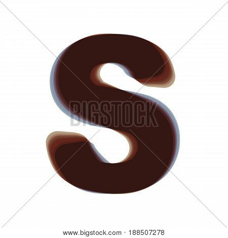 Letter S sign design template element. Vector. Colorful icon shaked with vertical axis at white background. Isolated.
