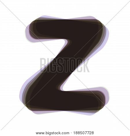 Letter Z sign design template element. Vector. Colorful icon shaked with vertical axis at white background. Isolated.