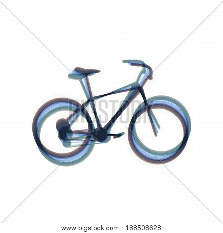 Bicycle, Bike sign. Vector. Colorful icon shaked with vertical axis at white background. Isolated.