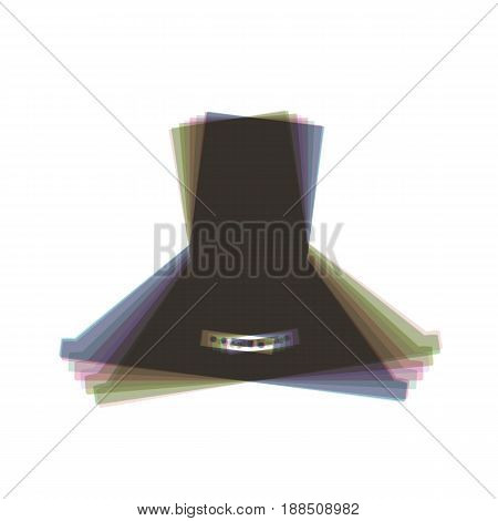 Exhaust hood. Kitchen ventilation sign. Vector. Colorful icon shaked with vertical axis at white background. Isolated.
