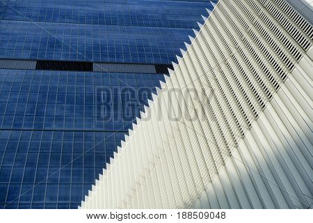 MILAN, ITALY - MARCH 26, 2017: Milan (Lombardy Italy): the skyscraper known as Allianz Building in the new CItylife area (Tre Torri)