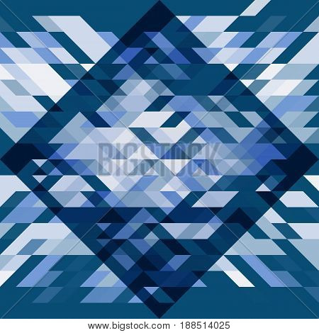 White and blue seamless geometric pattern. Abstract vector background. For banner poster card web design
