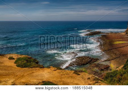 Ericeira Portugal. 15 May 2017.Cave Surf Spot in Ericeira. is Part of the World Surfing Reserve and its right outside Ericeira Village. Ericeira Portugal. photography by Ricardo Rocha.