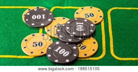 The background of the poker chips is very reckless and the most popular card game in the world such chips are the prize fund for the victory