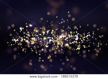 Bokeh smooth illustration with deep blue colors