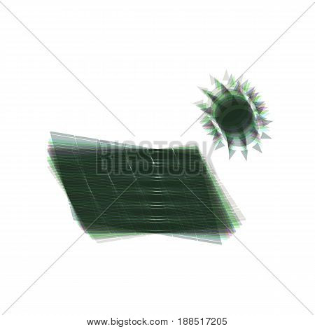 Solar energy panel. Eco trend concept sign. Vector. Colorful icon shaked with vertical axis at white background. Isolated.