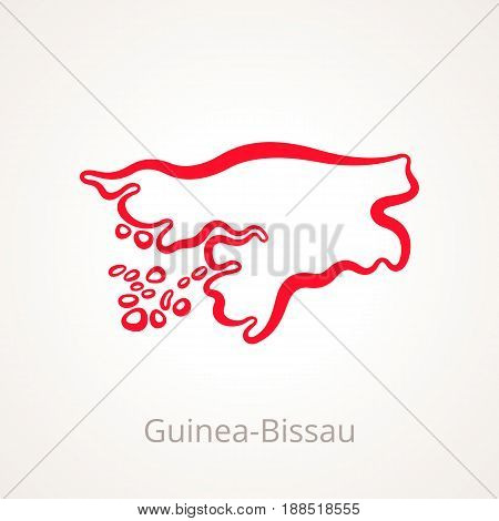 Guinea-bissau - Outline Map