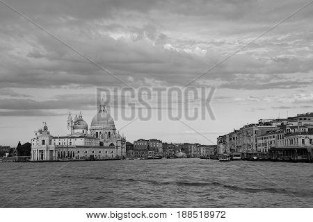 Punta della Dogana. Basilica di Santa Maria della Salute. Summer Morning in Venice
