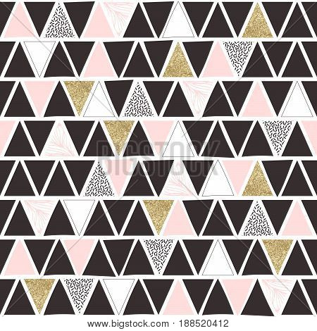 Triangle seamless pattern . Abstract background. Vector illustration