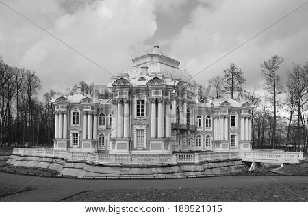 Hermitage in Tsarskoye Selo. Catherine Park. Spring