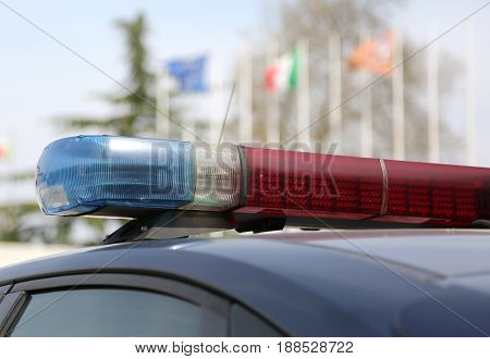 Sirens Of Police Car In Italy