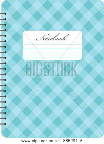Spiral notepad notebook. Closed notebook. Vector illustration