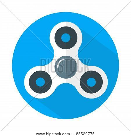 White fidget spinner icon flat style isolated