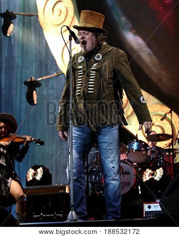 Verona VR Italy - May 1st 2017: Live Concert at Verona Arena of Zucchero Fornaciari called Sugar an Italian singer songwriter and musician