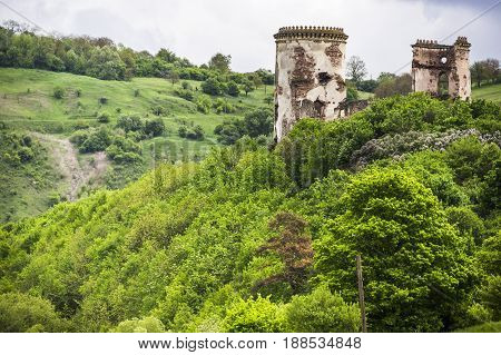 ruins of Chervonohorod Castle Ternopil region of western Ukraine