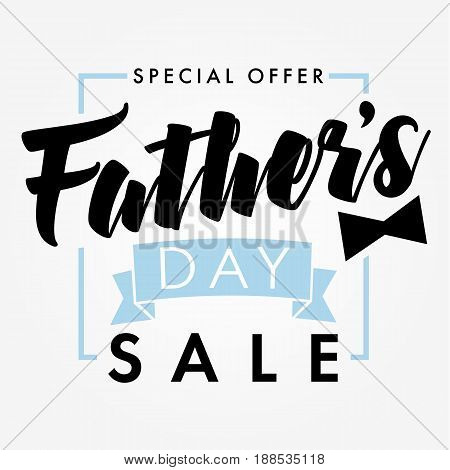 Special offer Father`s Day sale promotion vector design.