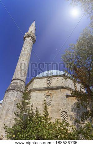 Karadoz Bey Mosque by sunny day, Mostar, Bosnia and Herzegovina