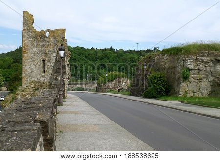 Road on Bock Casemates lead to the Hollow Tooth' Ruin, Luxembourg City, Luxembourg