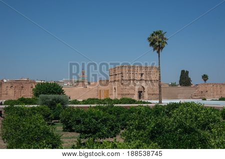 El Badi Palace Or Palais El Badii In Marrakech, Morocco