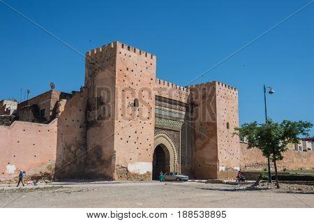 Bab el-Khemis Gate in Meknes in Morocco