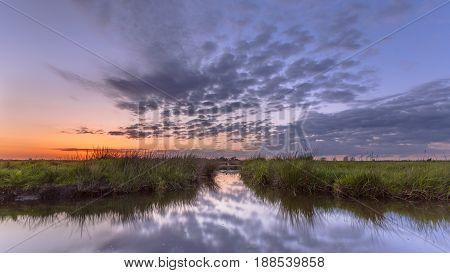 Sunset Over Waterway Split