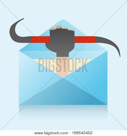 Hacker And Phishing Mail Illustration