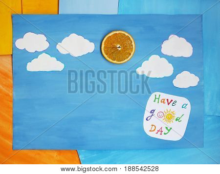 Paper note with phrase: Have a good day