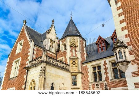 Chateau du Clos Luce in Amboise, France. The house where Leonardo da Vinci spent his last years