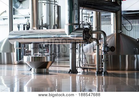 Brewing production vats on brew fabric new
