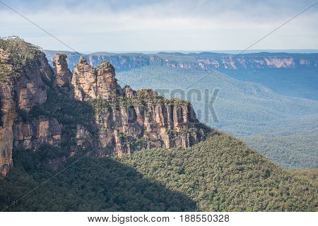 The Three Sister an iconic rock formation of Blue mountains national park, New south wales, Australia.