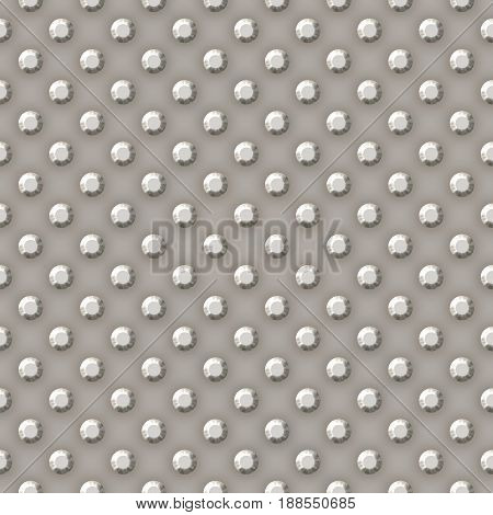 Grey steel silver metal 3d metal plate shiny seamless pattern texture