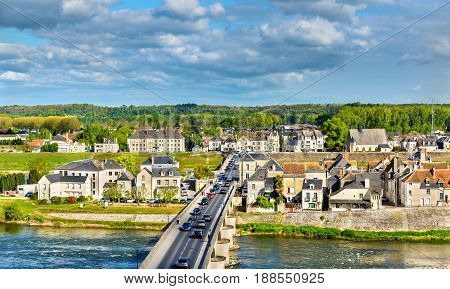Marechal Leclerc Bridge across the Loire in Amboise - France
