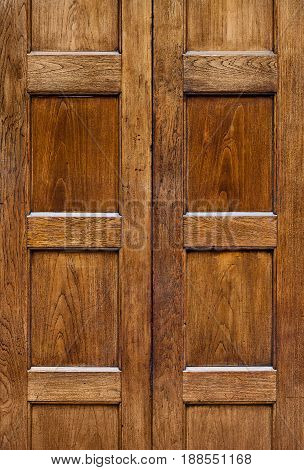Old Wooden Door With Square Plates Texture