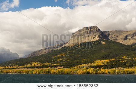 A view from just of Hwy 89 on the east side just outside Glacier National Park
