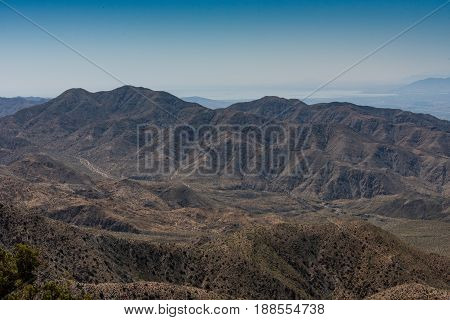 Bare Mountain Landscape In Joshua Tree