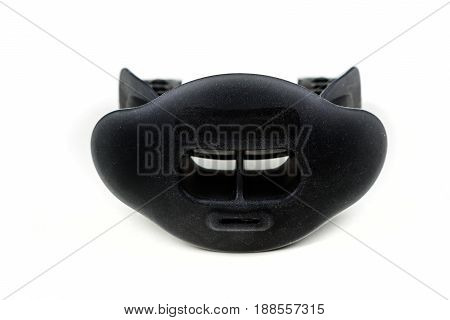 Rubber Mouth And Lip Guard On A White Background