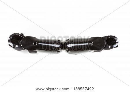 Black Foam Foot Protection On A White Background