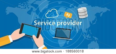 service provider for internet network business connect vector