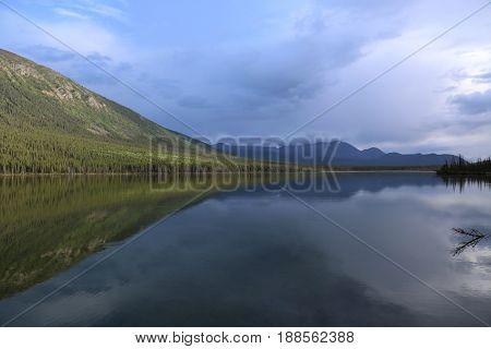 reflection in al lake, British Columbia, Canada