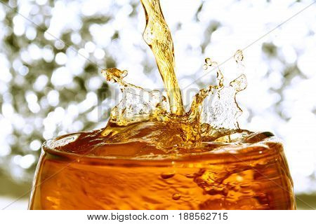 An alcoholic drink is a drink that contains a substantial amount of ethanol