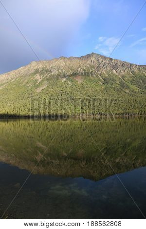 reflection in al lake, British Columbia, Canada