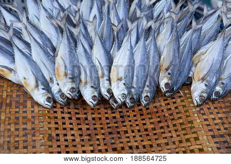 Dried Seafood. Dry Fish For Food Preservation.
