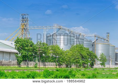 silo structure for storing bulk dried seed factory for keep inventory. agricultur industry.
