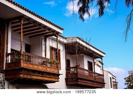 Classic Style Canarian Wooden Balcony