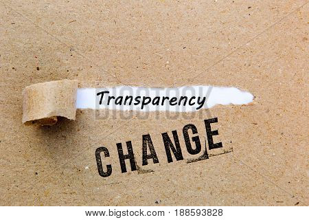 Change - Transparency - successful strategies for change