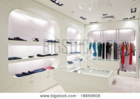 Clothing store interior