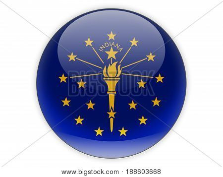 Flag Of Indiana, Us State Icon