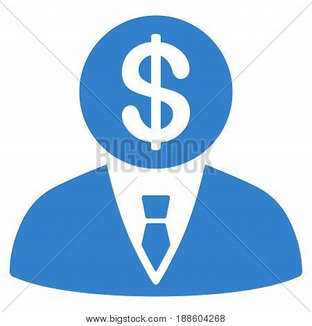 Cobalt Banker interface toolbar pictogram. Vector pictograph style is a flat symbol on diagonal hatch transparent background.