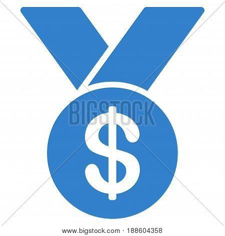 Cobalt Bestseller toolbar pictogram. Vector pictograph style is a flat symbol on diagonal hatch transparent background.