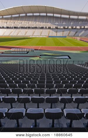 Empty Olympic Stadium And The Seats